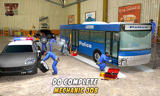 Police Car Wash Service: Gas Station Parking Games 1.4 screenshots 4