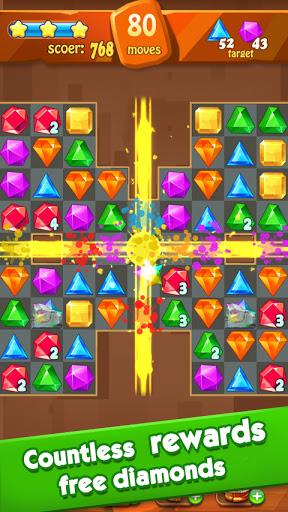 Jewels Classic - Jewel Crush Legend Apkfinish screenshots 3