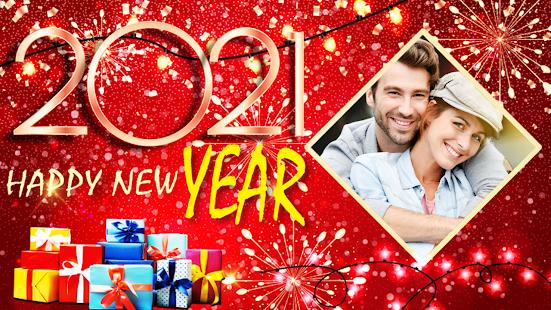 Happy New Year Photo Frame 2021 photo editor 2.2 Screenshots 3