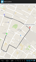 screenshot of Mock Locations (fake GPS path)