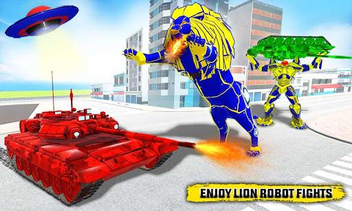 Flying Tank Transform Robot War: Lion Robot Games 10.3.0 Screenshots 4