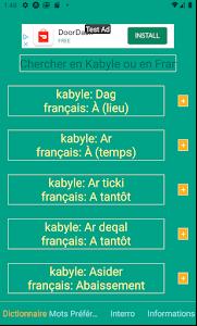 Dictionnaire Kabyle-Français 1.0.0
