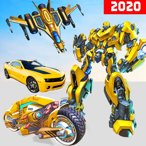 Jet Robot Car Transformation :Robot Car Games