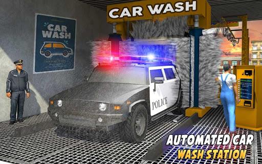 Police Car Wash Service: Gas Station Parking Games 1.4 screenshots 12
