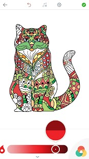 Cat Coloring Pages for Adults Screenshot