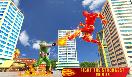 Flying Fire Hero Robot Transform: Robot Games  Screenshots 10