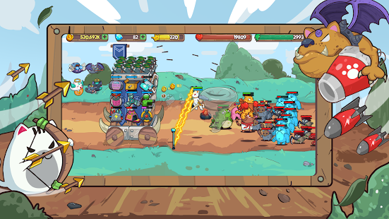 Cat'n'Robot: Idle Defense - Grow Castle TD Battle 3.5.2 Screenshots 8