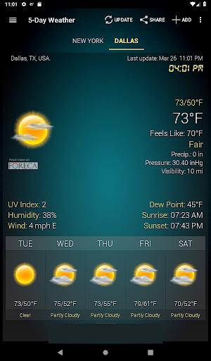 Weather & Clock Widget for Android screenshots 14