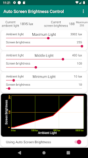 Auto Screen Brightness Screenshot