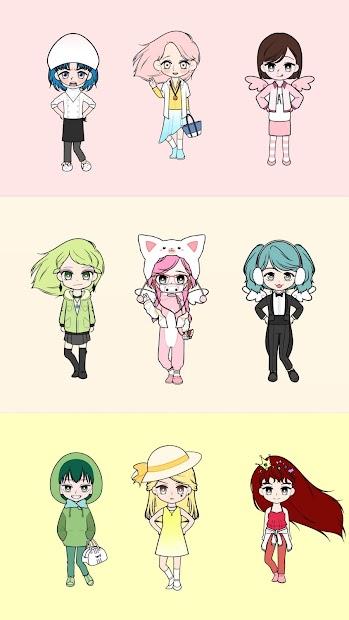 Captura 3 de My Webtoon Character Girls - K-pop IDOL Maker para android