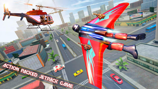 Flying Jetpack Hero Crime 3D Fighter Simulator  screenshots 1