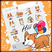 Silly Corgi Emoji Stickers
