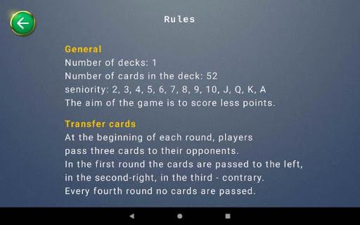 Hearts card game  screenshots 16