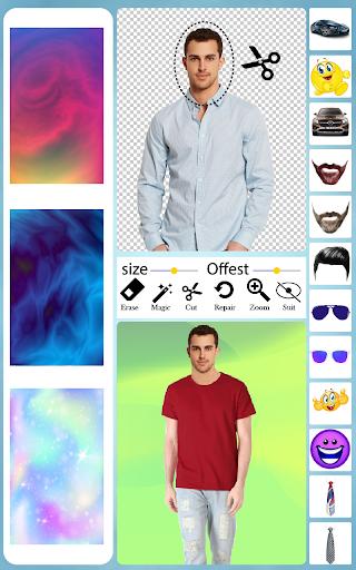 Men T-Shirt Photo Editor and Sweatshirt Dress apktram screenshots 8