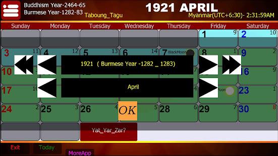 Myanmar Calendar 6.0.2 Screenshots 6