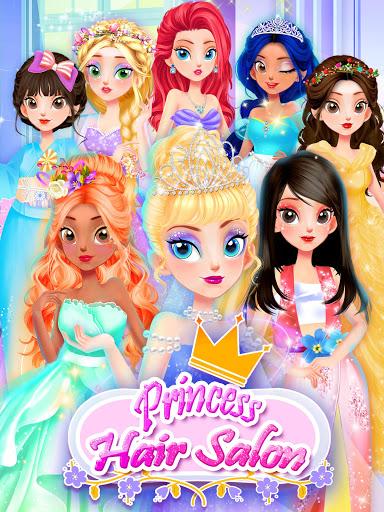 Girl Games: Princess Hair Salon Makeup Dress Up  screenshots 9