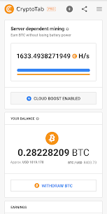 CryptoTab Browser Pro—mine on a PRO level 1