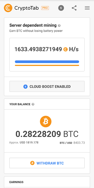 CryptoTab Browser Pro—mine on a PRO level Android App Screenshot