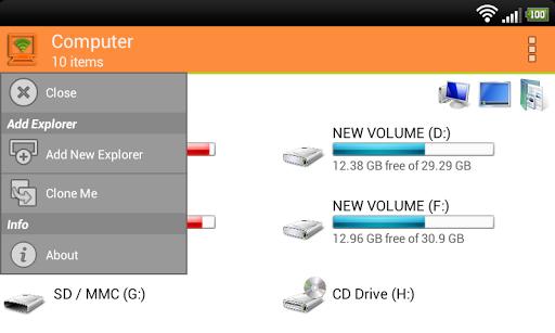 Foto do WiFi PC File Explorer