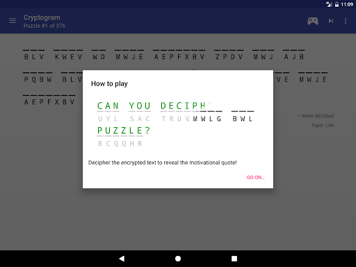 Cryptogram - puzzle quotes  screenshots 9