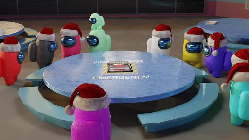 Among Christmas - Among us in 3D apktreat screenshots 2