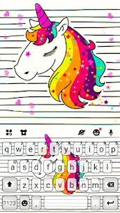 Doodle Unicorn Keyboard Theme 1.0 Android Mod APK 1
