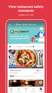 zomato – restaurant finder and food delivery app 1
