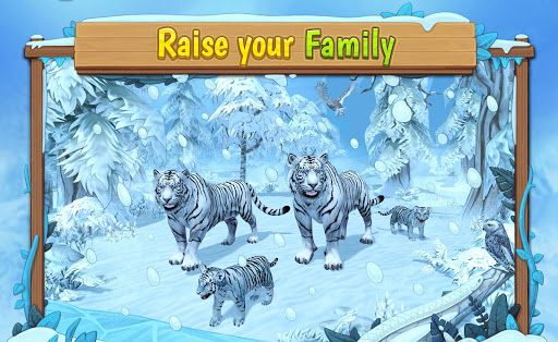 Code Triche White Tiger Family Sim Online - Animal Simulator APK Mod screenshots 1