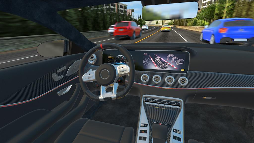 Racing in Car 2021 - POV traffic driving simulator  poster 2