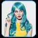 ヘアカラー - 色の変更写真のヘアカラー