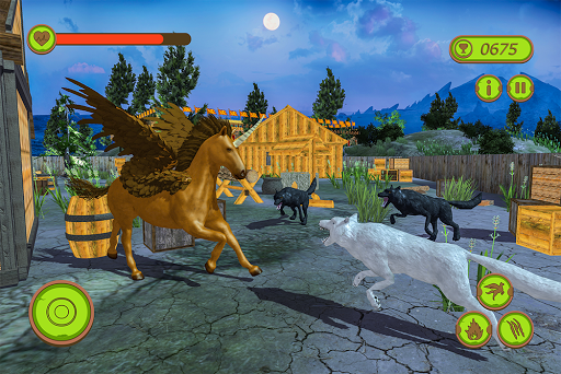 Flying Unicorn Horse Family Jungle Survival android2mod screenshots 15