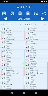 シフトカレンダー