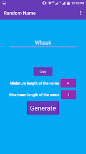 Name Generator Screenshot
