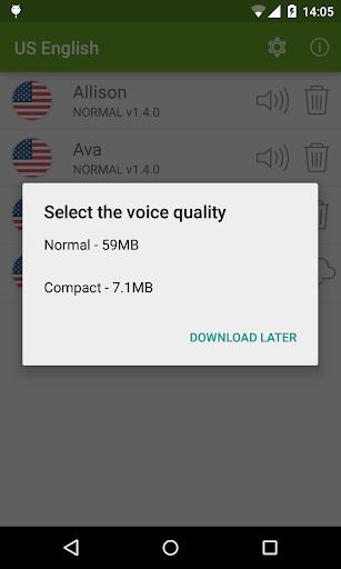 Vocalizer TTS Voice (English) 3.4.3 Screenshots 2