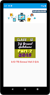 Account Class-12 Solutions (TS Grewal Vol-2) 2019