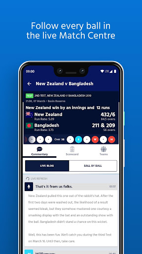 ICC - Live International Cricket Scores & News  screenshots 8
