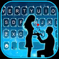 Romantic Love Night Keyboard Background