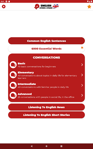 Learn English - Listening and Speaking modavailable screenshots 17