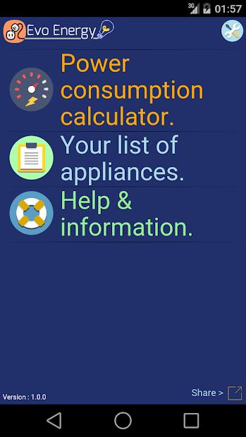 Captura de Pantalla 16 de EvoEnergy - Electricity Cost Calculator Free para android
