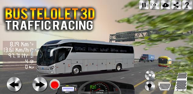 telolet bus 3d traffic racing hack