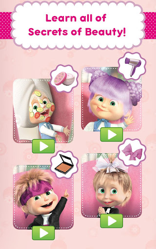 Masha and the Bear: Hair Salon and MakeUp Games apkpoly screenshots 16