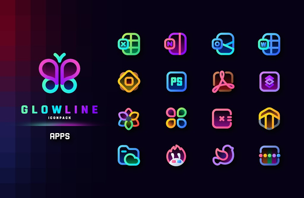 GlowLine Icon Pack  poster 5