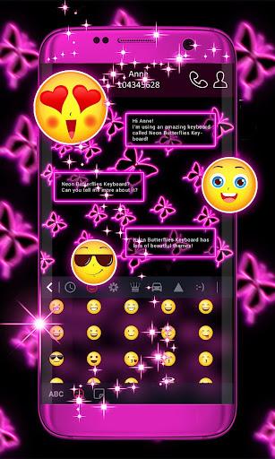 Neon Butterflies Keyboard 1.275.1.168 Screenshots 2
