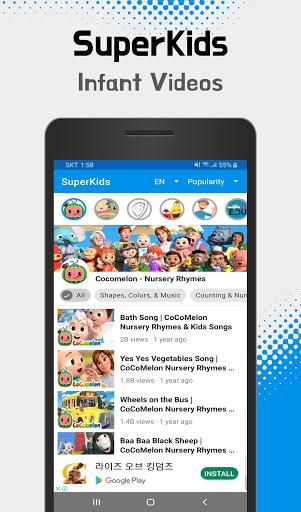 SuperKids - videos & cartoons, songs for your kids  Screenshots 3