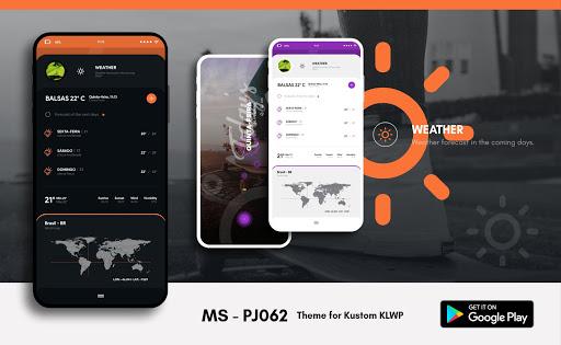 MS - PJ062 Theme for KLWP  screenshots 4