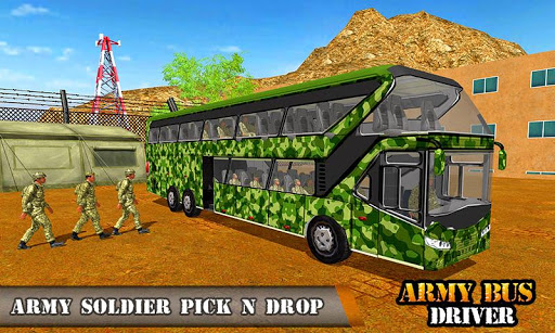 Army Bus Driving 2019 - Military Coach Transporter 1.0.9 screenshots 1