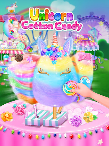 Unicorn Cotton Candy Maker - Rainbow Carnival screenshots 1