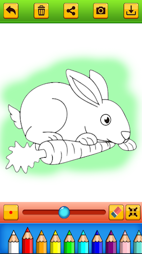 Cute Rabbit Coloring Book screenshots 3