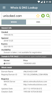 Whois & DNS Lookup - Domain/IP