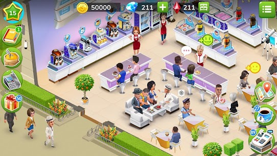 My Cafe — Restaurant game Mod Apk (Unlimited Money/Crystals/VIP 7) 2021.5 8